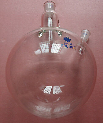 5000ml,24/29,2-neck,Round bottom Glass flask,5L,Double necks,Lab Reaction Bottle