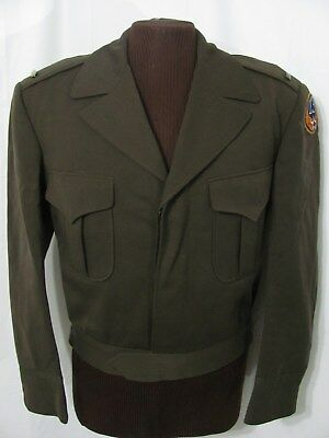 vintage 40s WWII US 13th ARMY AIR FORCE PATCH WOOL IKE UNIFORM JACKET COAT 40 M