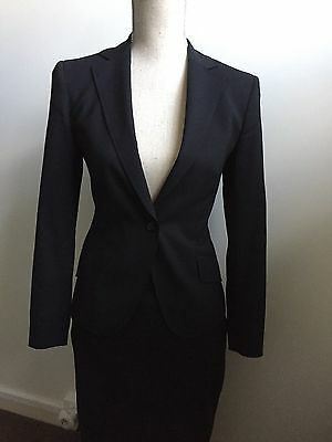 Oxford 2016 Black Womens Wool Pencil Skirt Suit Size 6-8