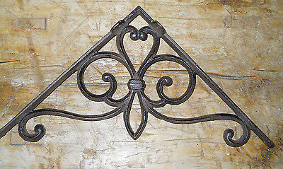 2 Cast Iron Antique Style Large VICTORIAN Brackets Garden Braces Shelf Bracket