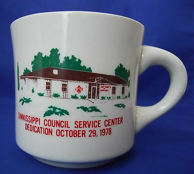 Vintage Sinnissippi Council Service Center Boy Scouts B.S.A Coffee Mug Cup 1978