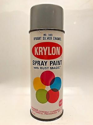 Krylon Bright Silver 1968 Early VTG  Spray Paint Can Rare