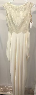 Size 8 Lace and Silk Wedding Gown