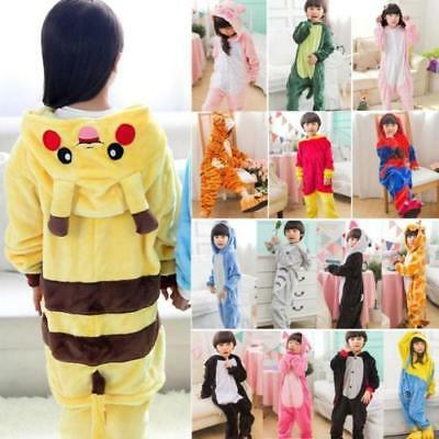 Unisexe Enfants Vêtements Pyjamas Kigurumi Costume Cosplay Animal Onesie 2-11ans