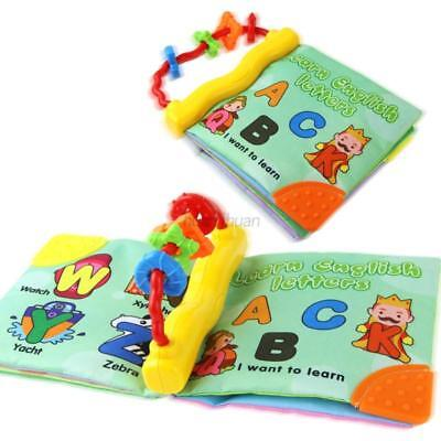 AU Baby Kid Intelligence Development Early Educational Cloth Book Toy With Sound