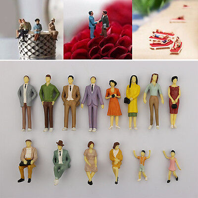 HO scale 1:87 ABS  Painted People / seated passenger Random Model Figures Gifts