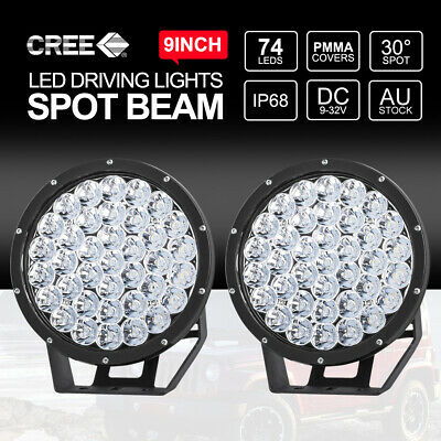 "7"" inch 9990W CREE LED Driving Lights Spot 4X4 Round Work Spotlights 12V24V"