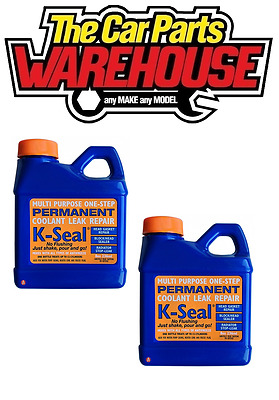 TWO K-Seal Permanent Coolant Leak Repair Cooling Systems Head Gaskets Radiators