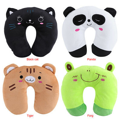 U Shape Toy Cartoon Animal Pillows For Baby Kids Travel Car Seat Neck Rest DH