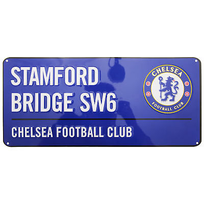 Chelsea FC Official Stamford Bridge Football Crest Street Sign