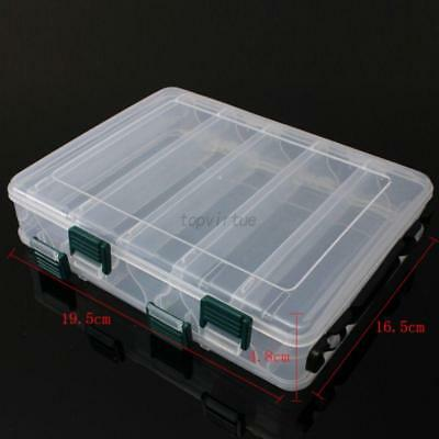 Double layer Fishing Lure Bait Tackle Storage Box Case Compartments Fishing