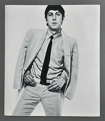 David Bailey Original 1965 Box Pin-ups Halftone Photo Print 32x37 David Puttnam