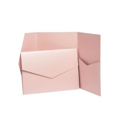 Antique Pink Pearlescent Pocket invitations with envelopes. Invite Wallets