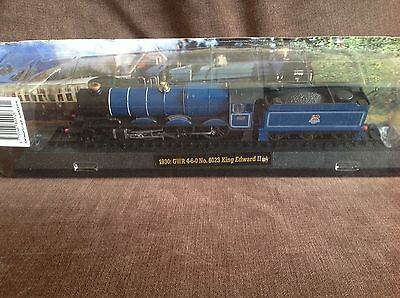 Model train collection 1930 GWR No 6023 King Edward on railway display stand
