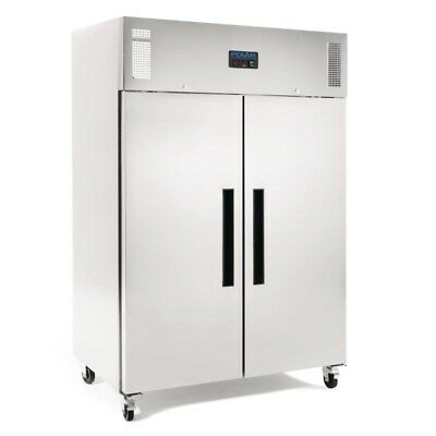 Polar 2 Door Upright Freezer 1200Ltr White