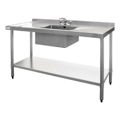 Vogue Stainless Steel Single Bowl Sink 1500mm