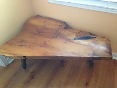 Antique Handcrafted Mrytle Wood Coffee Table