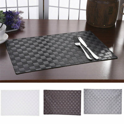 Set of 4 Tableware Table Mats Insulation Bowl Leaves Placemats Dining Place Pads