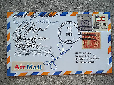 STS-51D Autographed Launch Cover