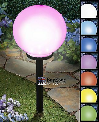 25 cm Jumbo Giant Colour Changing LED Solar Garden Mood Ball Sphere Globe