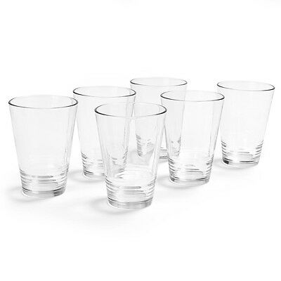 Set of 6 Tumbler Glass Drinking Water Glassware Cup Clear Drink Juice Beverage