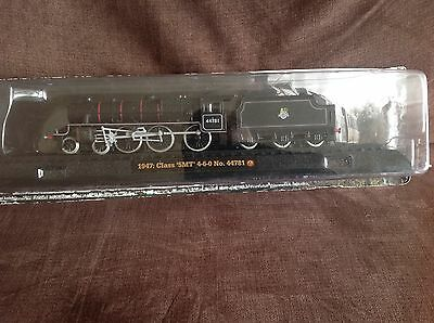 Model train collection 1947 Class 5MT BR No 44781 on railway display stand