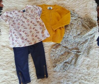 Old Navy girls 18 24 months lot cardigan mustard yellow floral top jeans outfit