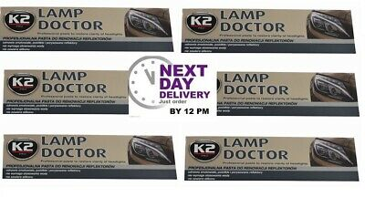 6 X K2 Pro Lamp Doctor Cleaner & Polish Yellowed Scratched Headlight Lenses