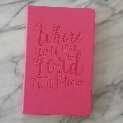 Blank Journal WHERE YOU LEAD ME LORD Prayer Inspiring Diary Eccolo Scripture