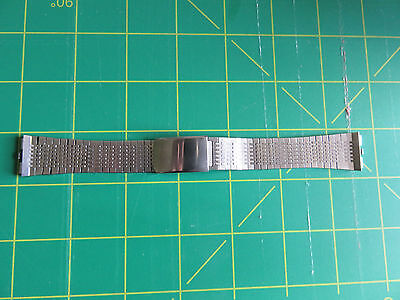 Vintage  stainless steel watch strap 17mm in excellent condition