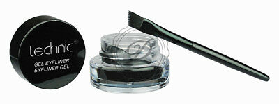 Technic Gel Eyeliner - Waterproof Pot Dip Brush Precision Black Cat Eye Winged