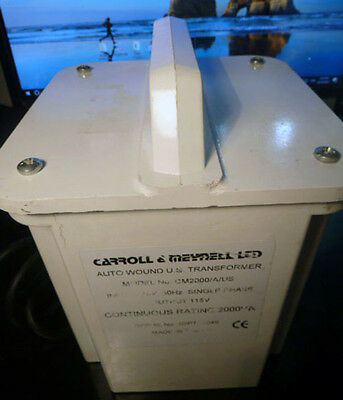 Step down autotransformer,2kVA 115V o/p. Part № CM2000/A/US. Carroll&Meynell