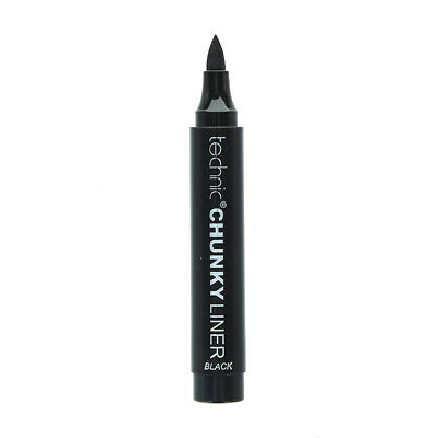 Technic Chunky Eyeliner - Thick Liner Black Eyes Pen Brush Liquid Winged Beauty