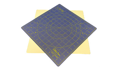 "Quilted Bear 360° Rotating Self Healing Cutting Mat  12"" x 12"" In Blue"