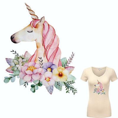 New Heat Transfer Unicorn Iron On Patches For DIY Cloth Decoration Printings