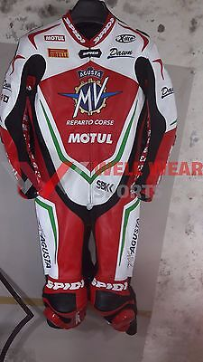 MV Agusta Reparto Corse Motorbike Leather Racing Suit All Size Available