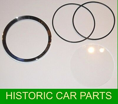 SMITHS Speedometer Rev Counter Bezel Seals Glass for MGA 1600 Twin Cam 1958-60