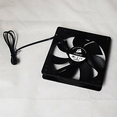 2 Pack of Corsair A1225M12S 120mm 3-Pin 1200RPM Black PC Case Cooling Fan OEM