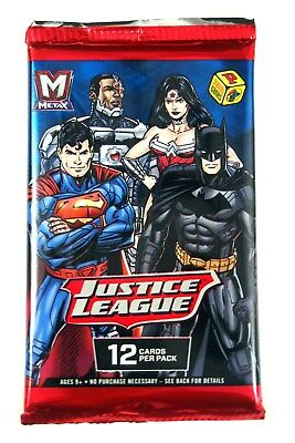 Panini MetaX  Justice League TCG single booster Pack, New and Sealed