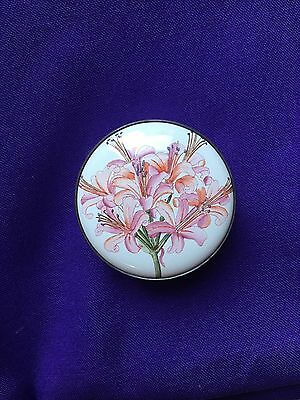 Halcyon Enamel Box honoring Lilian Snelling Royal Horticultural Society Rare