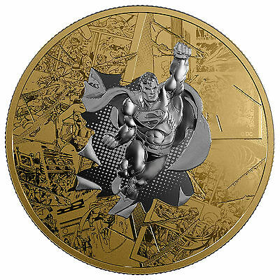 3 Oz Silber Proof DC Comics Superman Brave and bold 50 CAD Kanada 2017 Canada