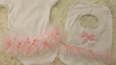 Sara Jayne Creations organza ruffle frilly bum Vest,Christening,party bridesmaid