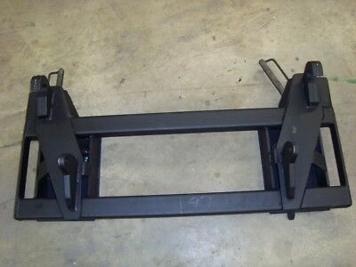 Euro global loader to skid steer attachment adapter black