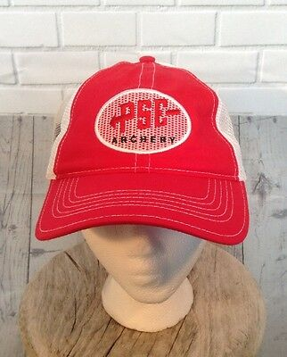 PSE Archery Hat Cap Red & White Adjustable Snapback Meshback New