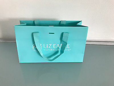 NEW LIZ EARLE Small Gift Bag With turquoise ribbon handles