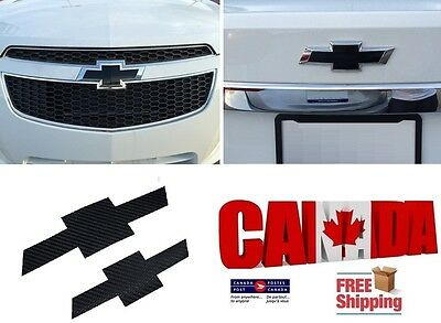 Sticker PreCut Vinyl  Emblem Logo Carbon Front & Rear for 2010-2015 Chevy Cruze