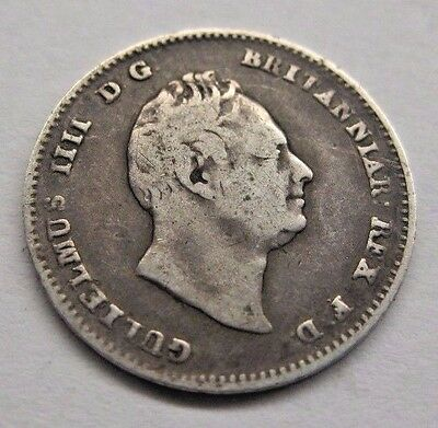 1836 Great Britain 3 Pence.  Nicely Detailed coin!  Ships to U.S. only.