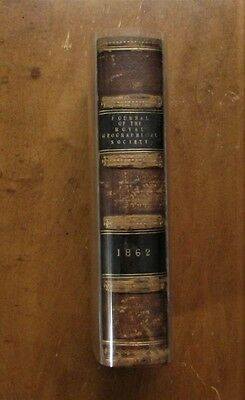 rare 1862 maps & exploration journal - Royal Geographical Society - detailed!!