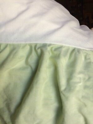 Pottery Barn Kids Light Green  Dust Ruffle Crib Baby Nursery Bed Skirt