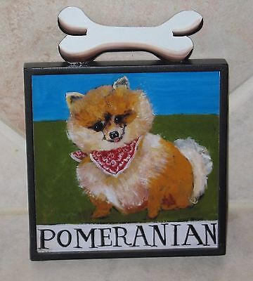 Pretty Pomeranian Wall Plaque by Nancy Thomas - Mint Condition